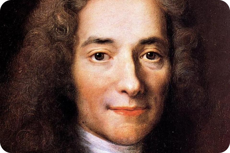 a young Voltaire