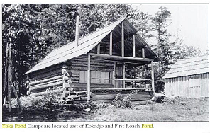cabin at Yoke Pond Camps, near Kokadjo Pond, Maine
