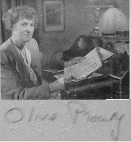 Prouty at writing desk