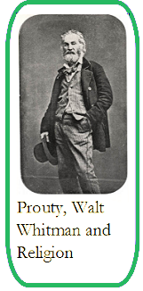 Prouty, religion, and Walt Whitman